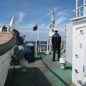 На кормовой палубе