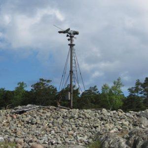 Разрушенный ветрогенератор