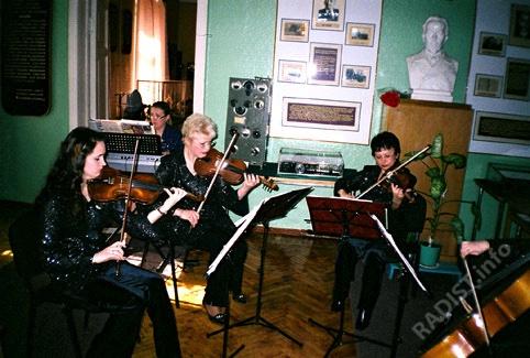 Концерт преподаватели музыкальной школы Кронштадта в честь юбилея музея