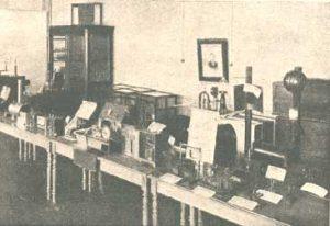 Музей Электроминной школы». Приборы, на которых работал Попов и часть которых он лично сделал.
