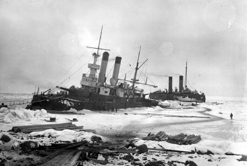 ББО «Генерал-адмирал Апраксин» у острова Гогланд 1899-1900 гг........
