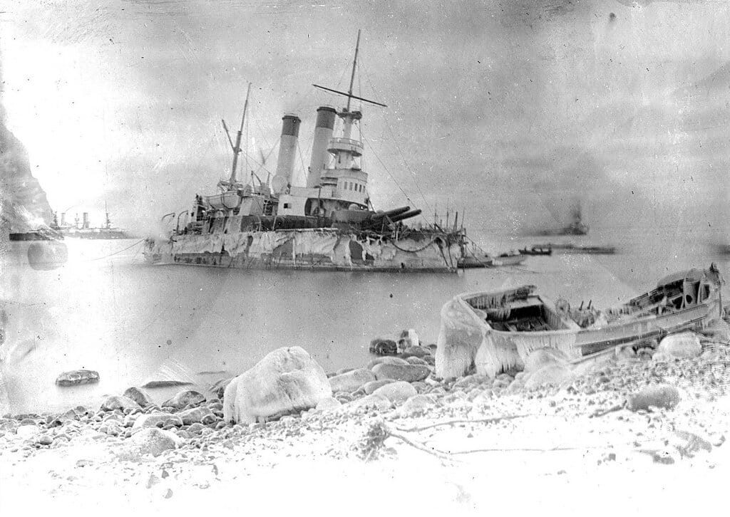 ББО «Генерал-адмирал Апраксин» у острова Гогланд 1899-1900 гг.