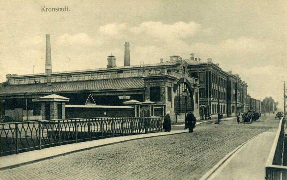 Машинная школа Балтийского флота и Пеньковый мост, Кронштадт 1905-1912 гг