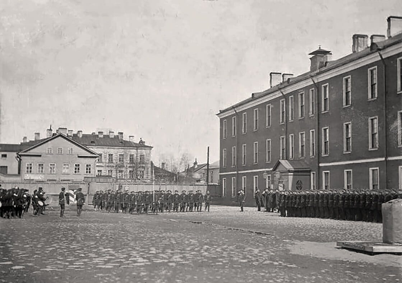 Плац флотского экипажа, Кронштадт 1890-1900 гг