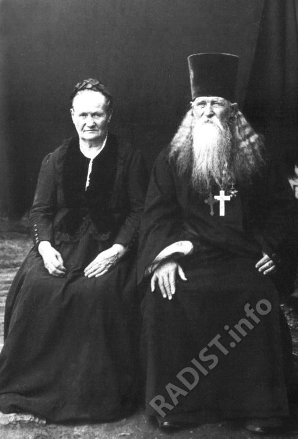 Родители А.С. Попова. Стефан Петрович (1827-1897 гг) и Анна Степановна (1830-1903 гг).