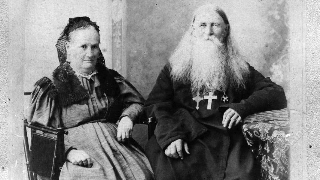 Родители А.С. Попова. Стефан Петрович (1827-1897 гг) и Анна Степановна (1830-1903 гг)