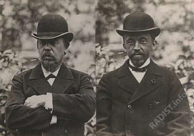 Рождение радио А.С. Попов и П.Н. Рыбкин 1895 г.