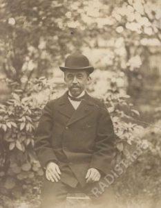Рыбкин П.Н. в день первой передачи сигнала на расстоянии без проводов. 25 апреля 1895 г.