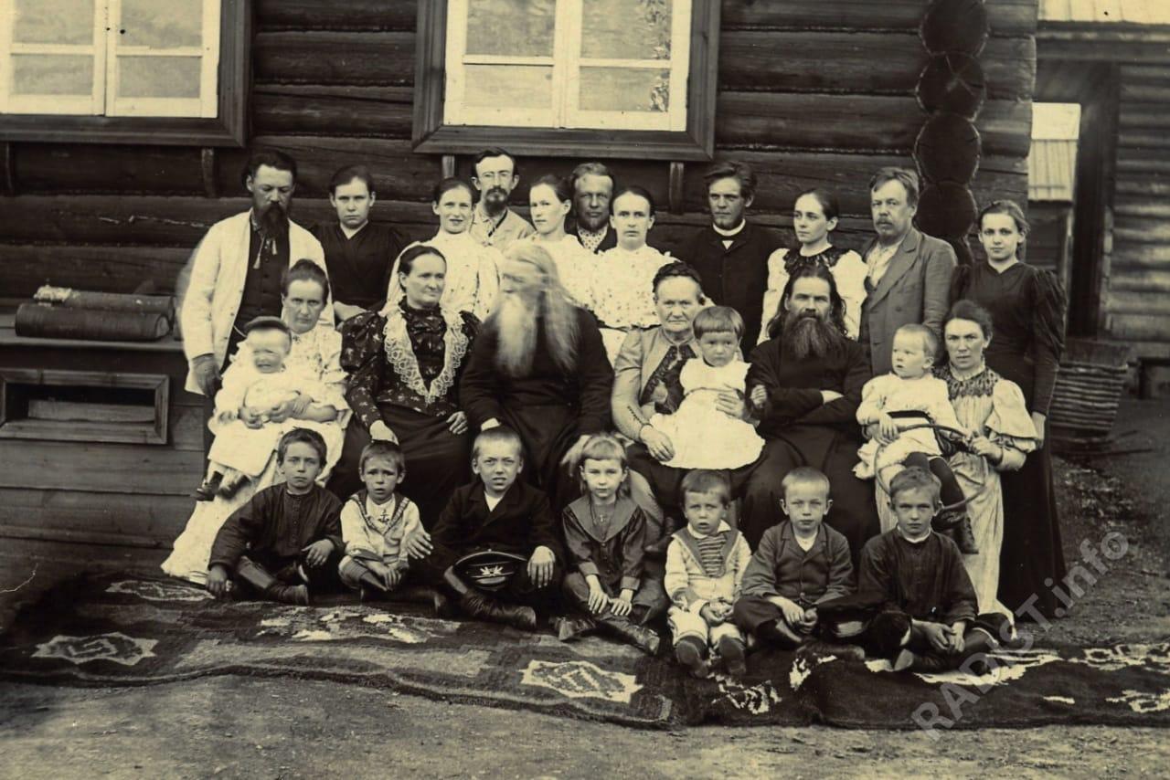 Семья в гостях у родителей А. С. Попова, Богословск 1894 г.