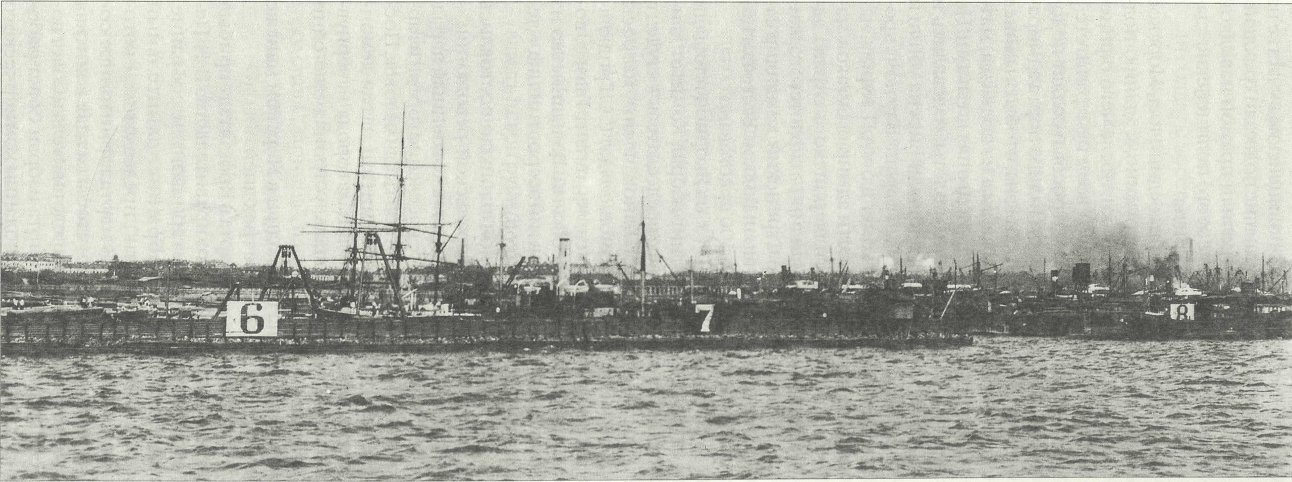Вид на Купеческую гавань, Кронштадт 1913 г