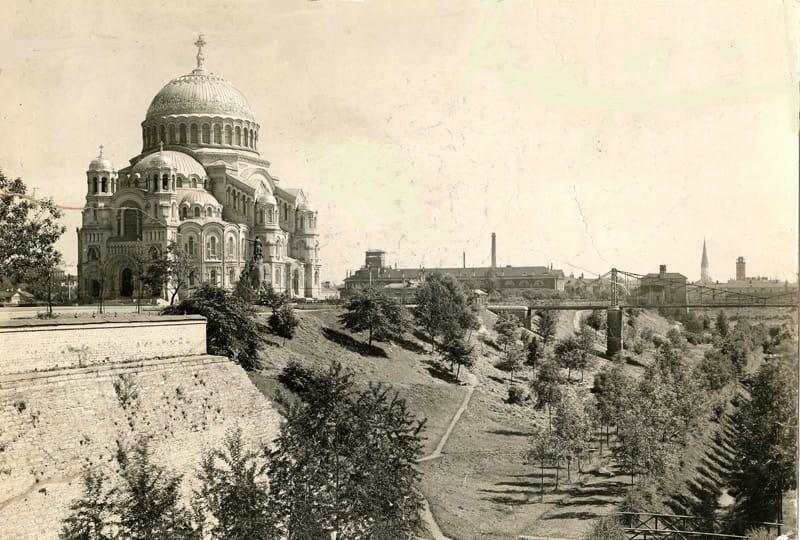 Вид на Морской собор святителя Николая Чудотворца, Кронштадт 1910-е гг