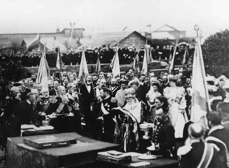Закладка Никольского Морского собора в присутствии императора Николая II, Кронштадт 8 (21) мая 1903 г