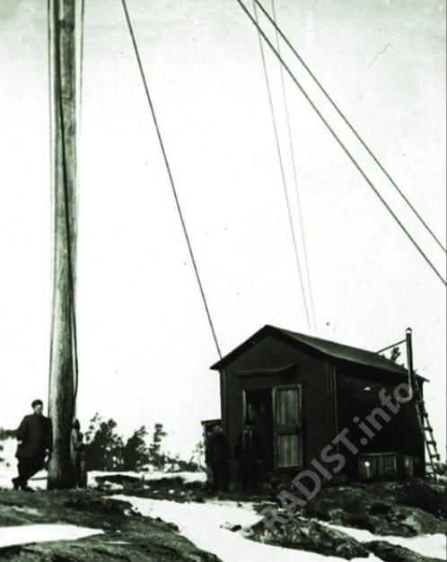 Беспроводная телеграфная станция А.С. Попова на о. Гогланд, 1900 г.