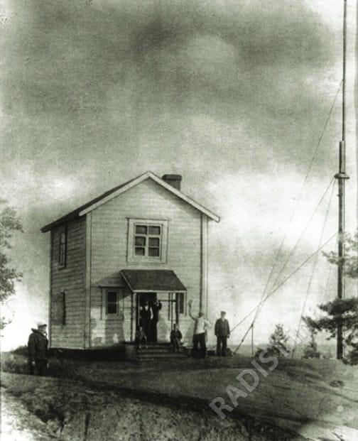 Беспроводная телеграфная станция А.С. Попова на о. Кутсало, 1900 г.