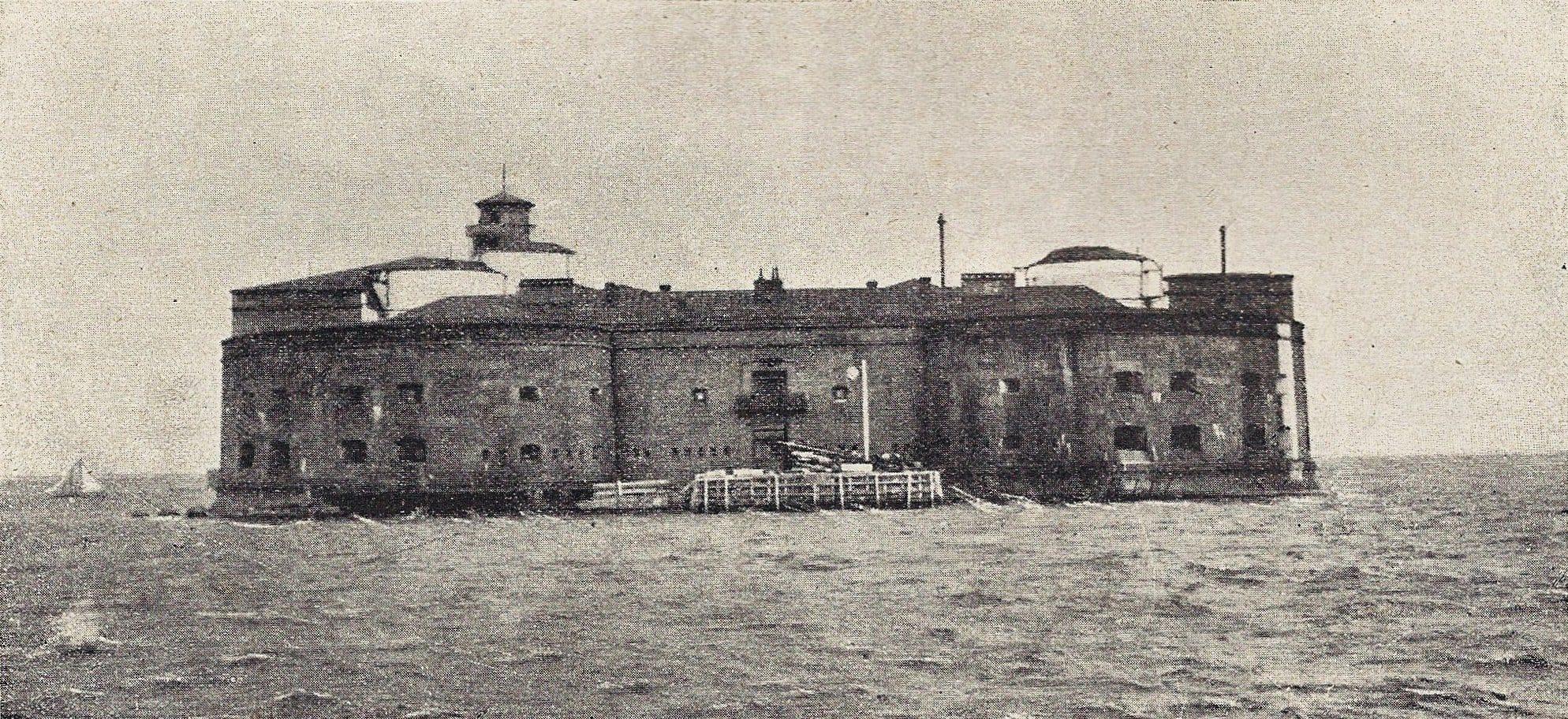 Борьба с чумой. форт «Император Александр I», Кронштадт