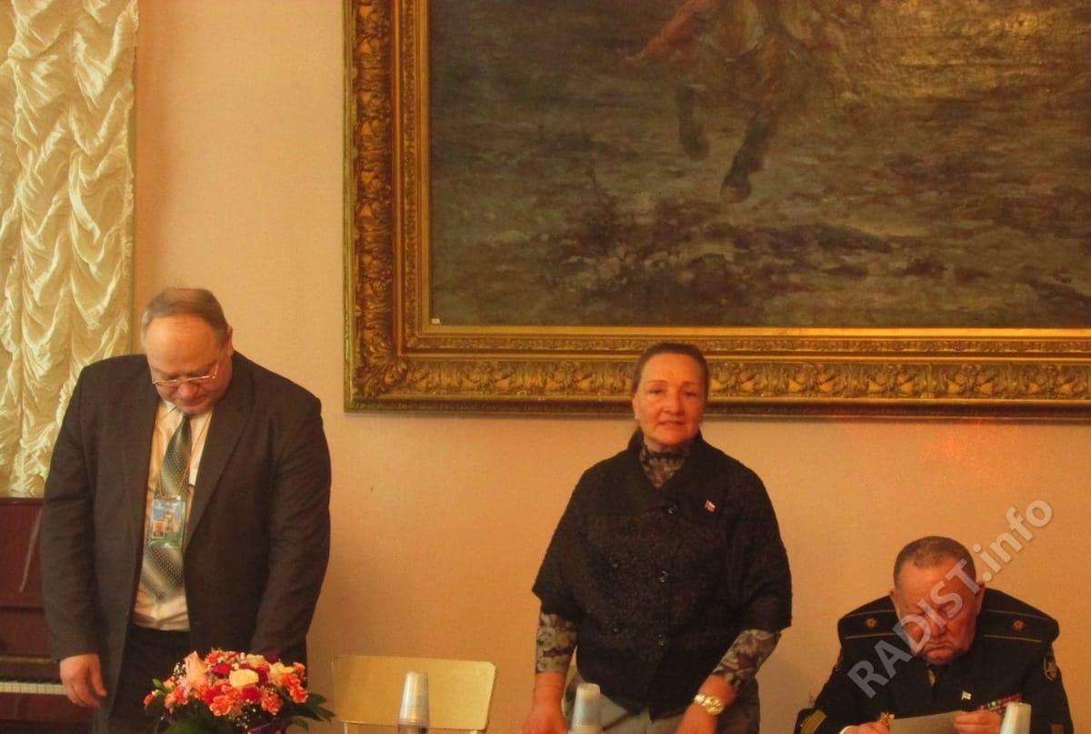 Президиум юбилейных научных чтений в Итальянском дворце в Кронштадте 16 марта 2019 года. Выступает Глава муниципального образования Н.Ф. Чашина