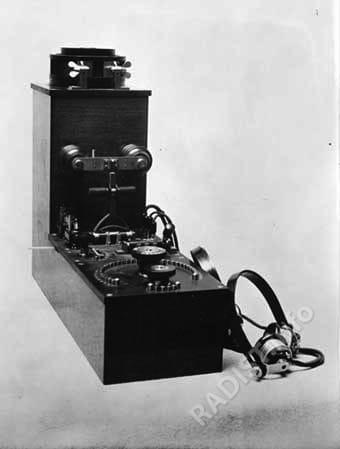 """""""Телеграфный аппарат (радиоприемник типа РГСА)"""". 1913 г."""