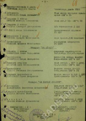Приказ № 56 от 21 августа 1942 года Командующего КБФ Тимбуц Адмиралу Кузнецову о награждении П.Н. Рыбкина орденом «Красная Звезда»_2