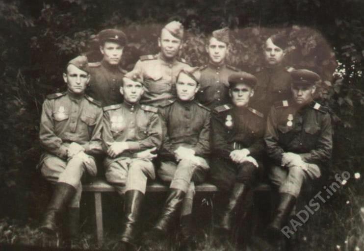 Группа машинистов и радистов 44 дивизиона бронепоездов, 1944 г.