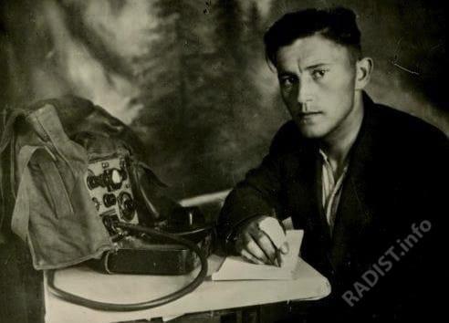 Нечаевский Лазарь Наумович, радист ОПП им. 24-й годовщины РККА, 1940-е гг.