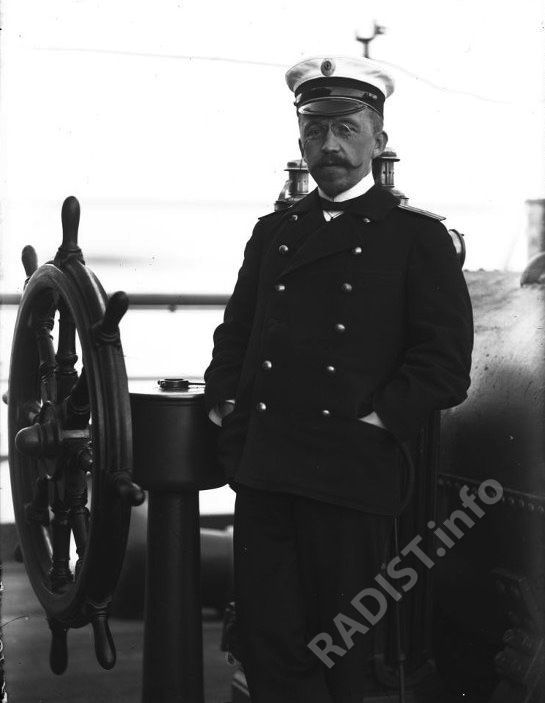П.Н. Рыбкин на борту учебного судна «Николаев» в 1906 г.