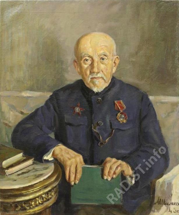 Портрет П.Н. Рыбкина,1945 г. Художник А. Шимко. холст, масло, размеры 81х66.