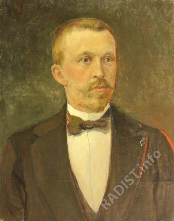 Портрет П.Н. Рыбкина,1950 г. Неизвестный художник. Холст, масло, размеры 75х60