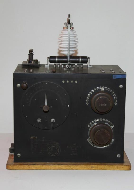 Радиоприемник детекторный. Радиотелеграфный завод морского ведомства, Тип ПБ-2, 1917 г.