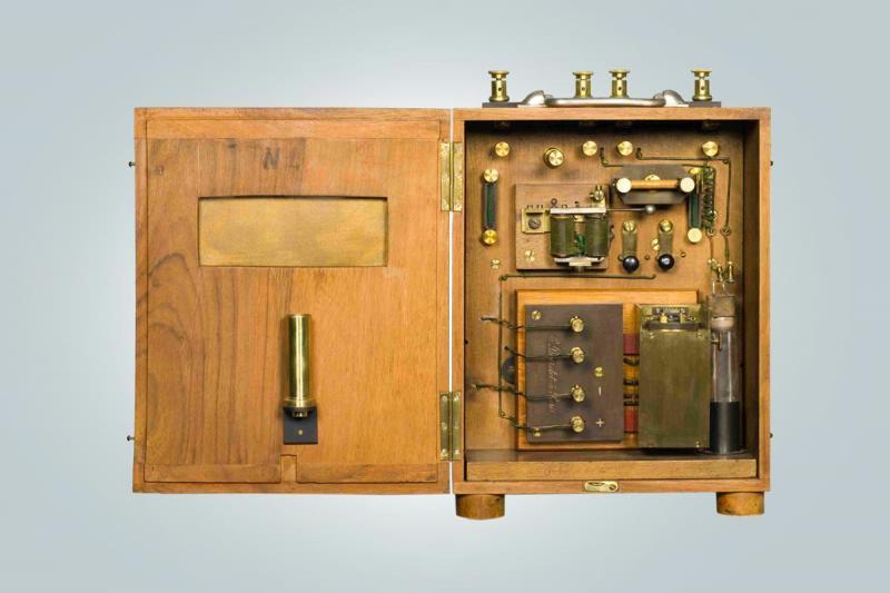 Радиоприемник когерерный, системы Попова-Дюкрете, 1899 г.