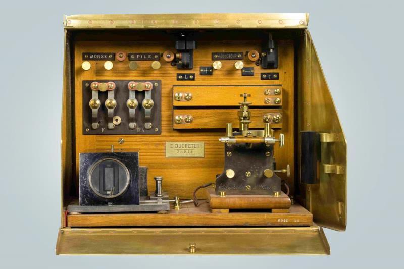 Радиоприемник когерерный, системы Попова-Дюкрете, 1905-1906 годов.