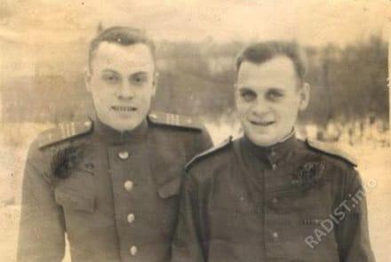 Радисты Виноградов Евгений и Мельников Иван. г. Мытищи, 1947 г.