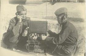 Радисты на учениях, 1940-е гг.