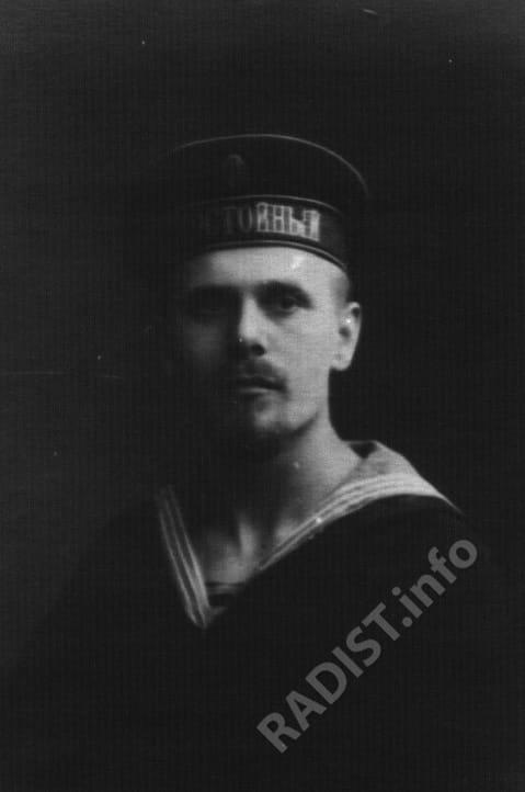 Шишко Павел Игнатьевич (1893-1942), радиотелеграфист миноносца «Достойный» Балтфлота, член Гельсингфорского Совета. г. Гельсингфорс, 1917 г.