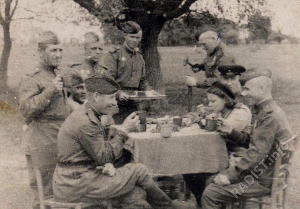 Связисты 301-го гвардейского минометного полка, 1945 г.