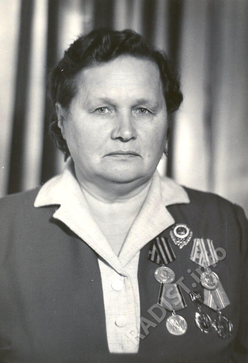 Томина Надежда Георгиевна, участница Великой Отечественной войны, радиотелеграфист, 1975 г.