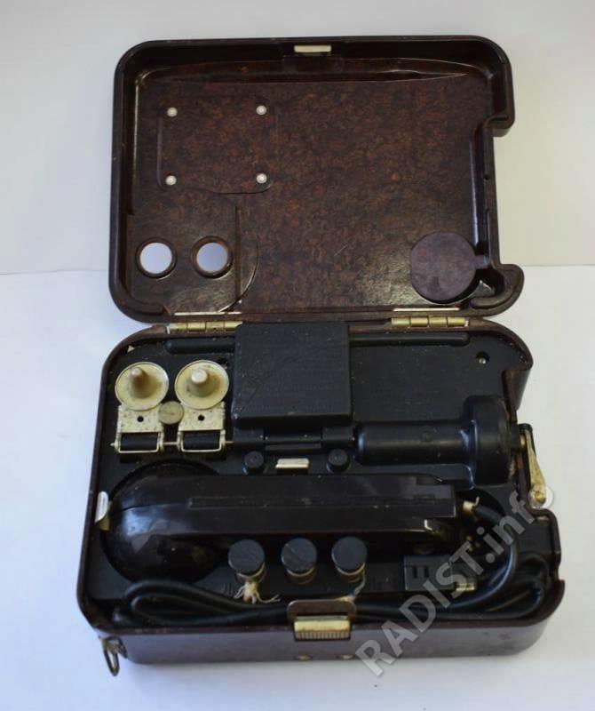 Военный полевой телефон радиста