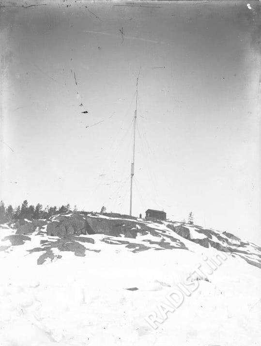 Радиомачта на о. Гогланд, предположительно снимок сделан П.Н. Рыбкиным, 1900 г.