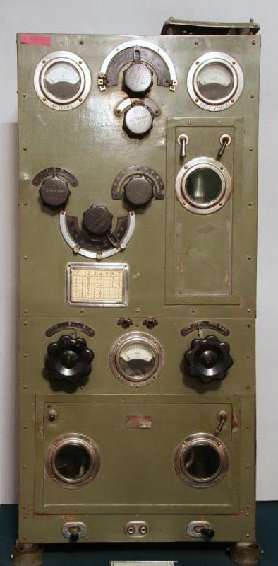 Радиостанция корабельная. Тип УМО (Учебно-Минного Отряда Кронштадта). Радиотелеграфный завод Морского ведомства.