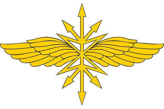 петличный знак войск связи