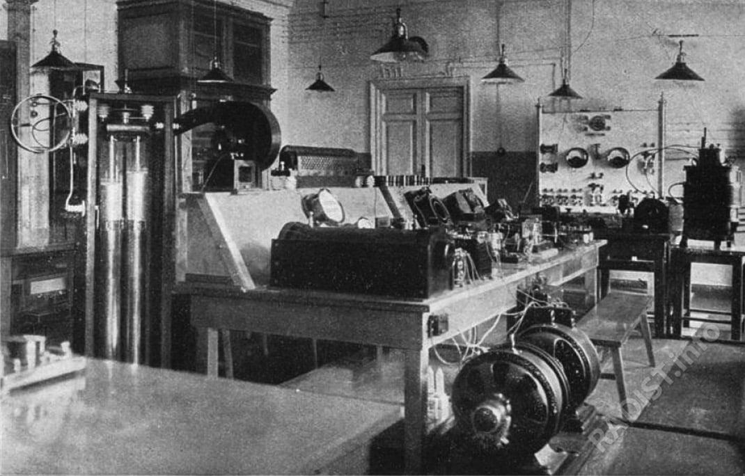 Кабинет беспроволочного телеграфа в Минном офицерском классе